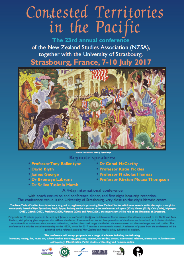 Strasbourg 2017 NZSA Conference Poster